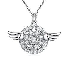 925 Silber p. Kristall Strass Anhänger Engelsrufer Engel Schutzengel mit Ketten