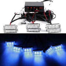 6 X 3 LED Auto LKW 18 LED Dash Strobe Flashlight Blitzer Licht Warnleuchte Blau