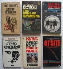 6 Vintage Paperback Books (Spies, War, etc) MacLean, Ambler, Kenrick, etc.