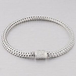 John Hardy Diamond 925 Sterling Silver & 18k Gold Classic Wheat Chain Bracelet