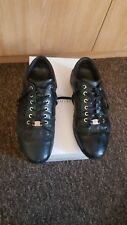 VERSACE COLLECTION - Mens Black Leather Trainers, Size 44 (UK 10)