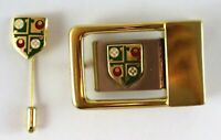 Cambridge Girton College Badge Lapel Tie Pin and Belt Buckle Souvenir England