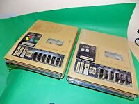 2 x General Electric 3-5194A American Printing House Cassette Player vintage