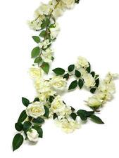 Artificial Silk Flower Garland x 1.5m - Cream Rose & Hydrangea - Wedding Decor