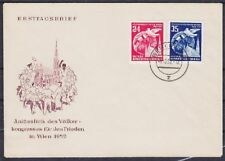 DDR FDC 320 - 321 mit Tagesstempel Berlin 1952, friist day cover
