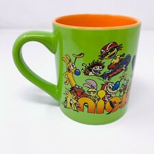 Official Nickelodeon '90s Characters Coffee Mug Tea Cup Green & Orange NEW