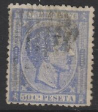 Spain - 1875, 50c Lavender or Dull Mauve stamp - Used - SG 234 or 234a
