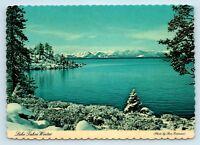 Lake Tahoe, CA - c1970s WINTER VIEW by GRAMANZ - VTG CONTINENTAL POSTCARD - P2