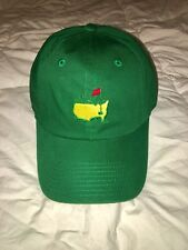 Official 2018 Masters GREEN CADDY Slouch Golf Hat Augusta NATIONAL - Flag