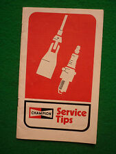CLASSIC BRITISH CHAMPION SPARK PLUG SERVICE TIPS MANUAL (JULY 1972)
