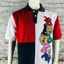 Rebel Minds WIld Animal Patches Men's 2XL Polo Shirt NWT