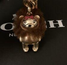 COACH WIZARD OF OZ LION Bag Purse Charm Keychain Key Ring Fob F35249 New