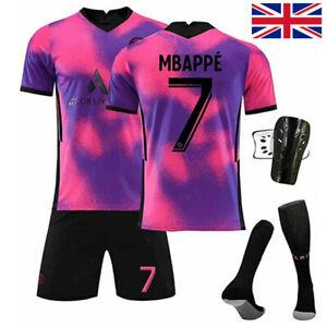 20/21 Kids Mens Clubs Training Jersey Boys Girls Football Shorts Socks Outfits