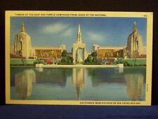 California World's Fair Towers of the East Vintage Postcard San Francisco Old