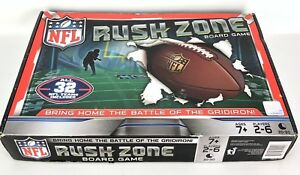 NFL Rush Zone Board Game Official Licensed Ages 7+ 2-6 Players 2015 Opened Box