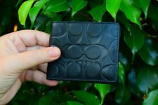 New With Out Tags Coach Men's Signature Embossed Leather Card Case Wallet