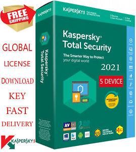 KASPERSKY TOTAL 2021, 5 Device, 1 Year  - Global Key $17.95