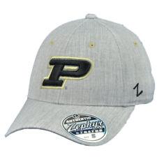 NCAA Zephyr Purdue Boilermakers Gray Flex Fit Medium Large Stretch Hat Cap
