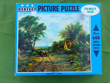 """Vintage """"Old Logging Road"""" Perfect Picture Puzzle 600 pc Jigsaw Interlocking"""