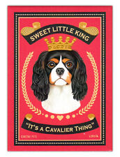Retro Dogs Refrigerator Magnets - Cavalier King Charles Spaniel - Art