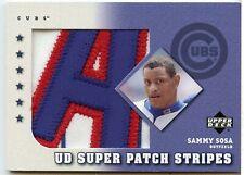 2003 Upper Deck Super Patch Stripes Sammy Sosa SPS-SS (SEE PHOTOS)