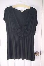 NEW Womens Charlotte Russe XL Dark Green Cap Sleeve Blouse  Beautiful Blouse!!!
