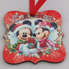 mickey mouse and minnie mouse disney wooden christmas tree decorations - Mickey Mouse Christmas Tree Decorations