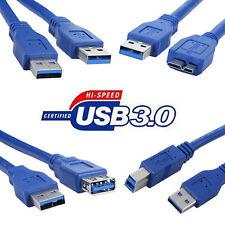 Usb 3.0 A Macho a un b F Macho Note3 Am-am Am-bm Am-fm am-note3 Cable de extensión Lote