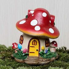 Miniature Fairy Mushroom House Garden Resin Ornament Plant  Dollhouse Decor Pots