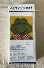 New listing New Wonderart Frog Latch Hook Kit 12 x 12