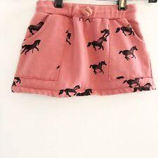 Bobo Choses Girls Horse Skirt Rust Orange Black Pockets Toddler Size 2 3