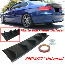 "27""x7.5"" Auto Car Rear Bumper Lip Diffuser Kit Shark Fin Style Body Protector"