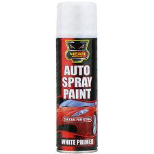 2 x 250ml Blanc Aérosol Primer Spray boite voiture & Vans Auto Peinture aérosol