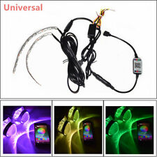Durable BT Remote Control RGB LED Demon Eye Halo Ring Headlight Projector Lens