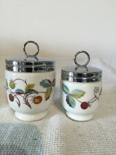 Royal Worcester Egg Coddlers King Size And Standard Strawberry Fair Pattern