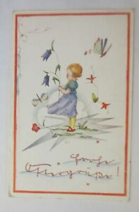 Easter, Children, Fashion, Flowers, Butterfly, 1937 (16640)