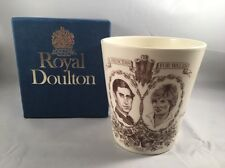 1981 Royal Doulton 'A Princess for Wales' Diana Wedding Beaker Brand New & Boxed