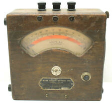 Antique AC Ampere Meter Weston Electrical Instruments Model 155 Wood Case
