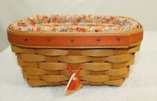 Longaberger 1999 Candy Corn Basket Set with Tie-On