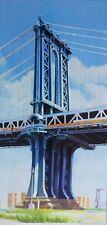 RICHARD HAAS Manhattan Bridge 1999 HAND SIGNED mixed media on Aluminum