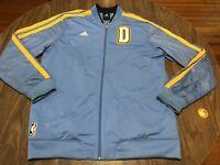 Denver Nuggets NBA Basketball adidas Large Blue Warmup Style Jacket