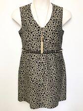 MARCS animal pattern sleeveless brown black dress sz 14