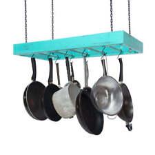 Hanging Pot Rack - Wooden - Ceiling Mounted - Rectangular - Large