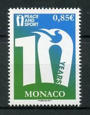 Monaco 2017 MNH Peace and Sport 10th Anniversary 1v Set Doves Birds Stamps