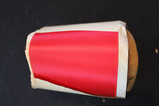 VINTAGE 1930'S RED RAYON SATIN RIBBON 3 IN X 8 YDS.