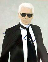 Karl Lagerfeld ++ Autogramm ++ deutscher Modeschöpfer ++ Modelegende Autograph
