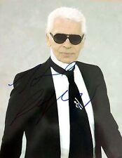 Karl Lagerfeld ++ Autogramm ++ deutscher Modeschöpfer ++ Modelegende