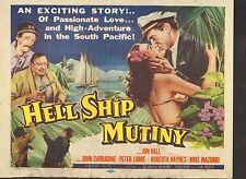 1957 MOVIE LOBBY CARD #1-487 - HELL SHIP MUTINY - TITLE CARD - JOHN CARRADINE
