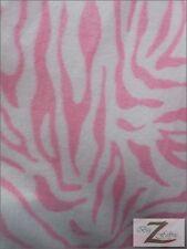 "ZEBRA PRINT POLAR FLEECE FABRIC-WHITE/PINK STRIPES-4.99/YARD 36""X60"" SOLD BTY  9"