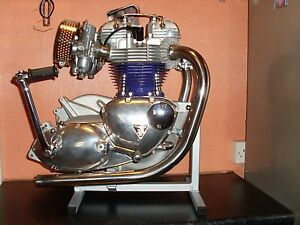 motor cycle triumph 650-750 engine stand t120-t140-tr7-tr6-6t-etc